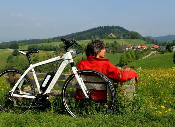 ein E-Bike Verschnaufpause
