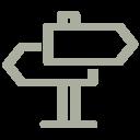 Icon Wegweiser