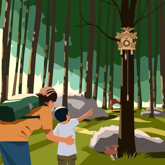 Illustration Uhrenwald