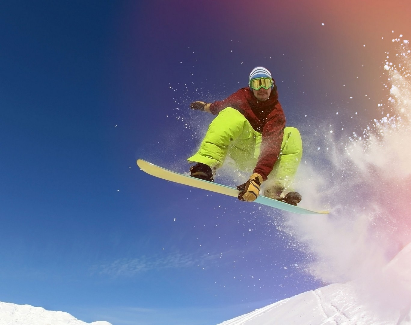 Snowboarder Sprung ©123RF