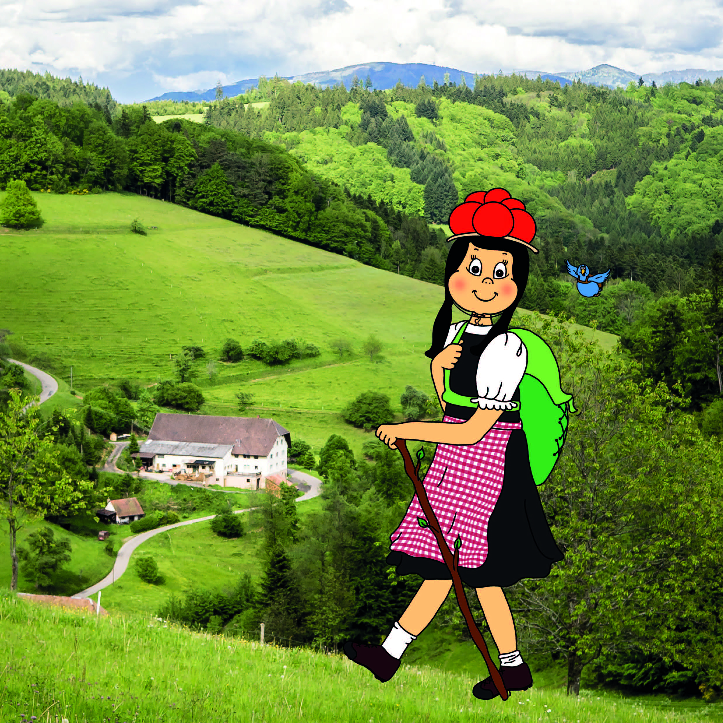 Anni und Federle auf Wanderung