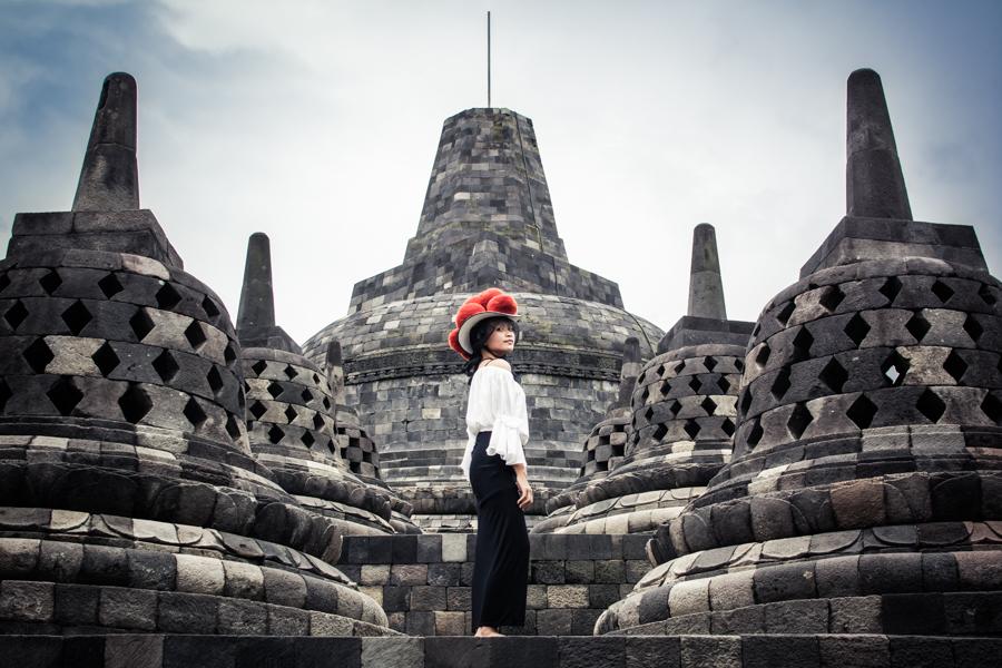 Borobudur Indonesien, Bollenhut
