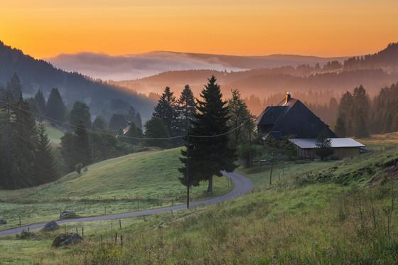 Sonnenuntergang in Schluchsee