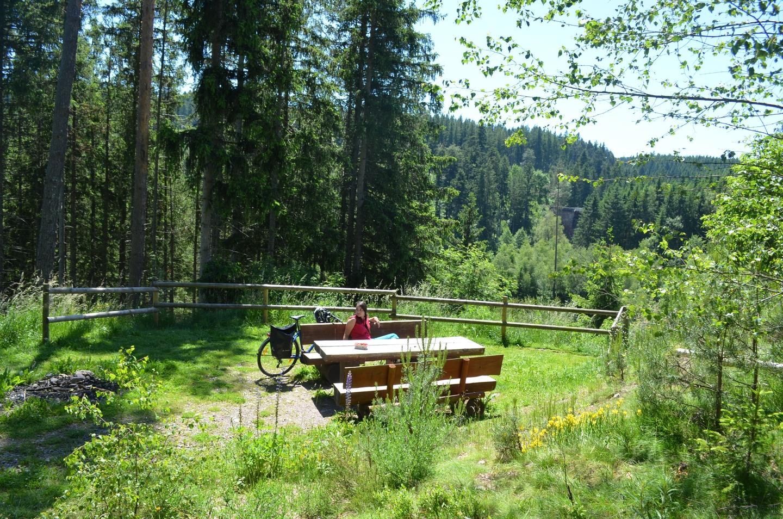 Südschwarzwald Radweg Rast