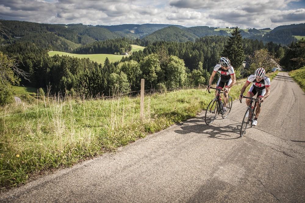 Rennrad zwei Radfahrer