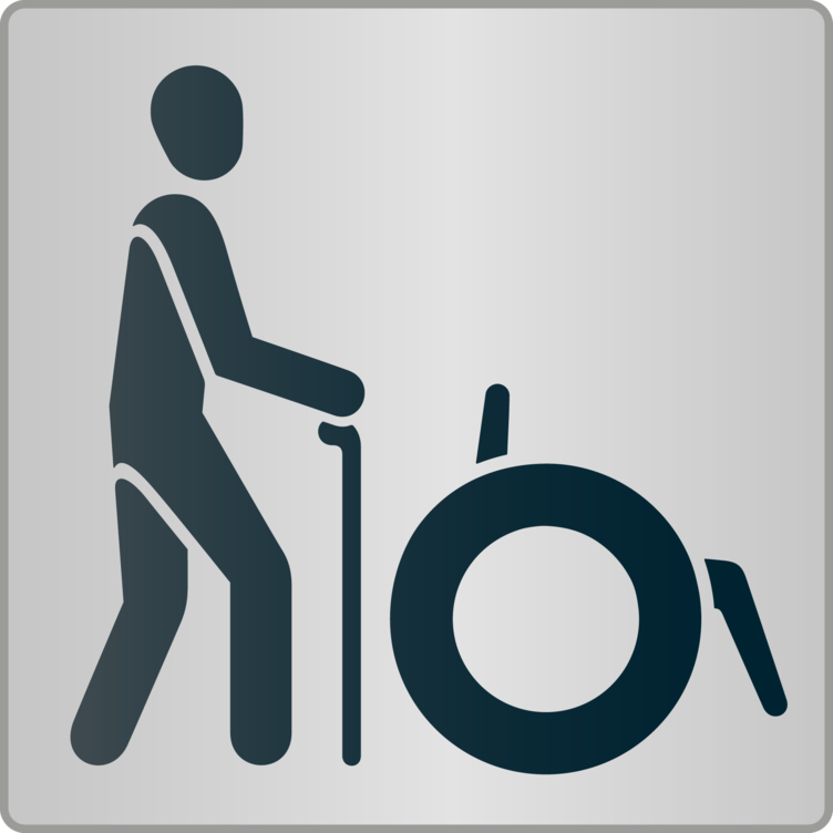 Menschen mit Gehbehinderung