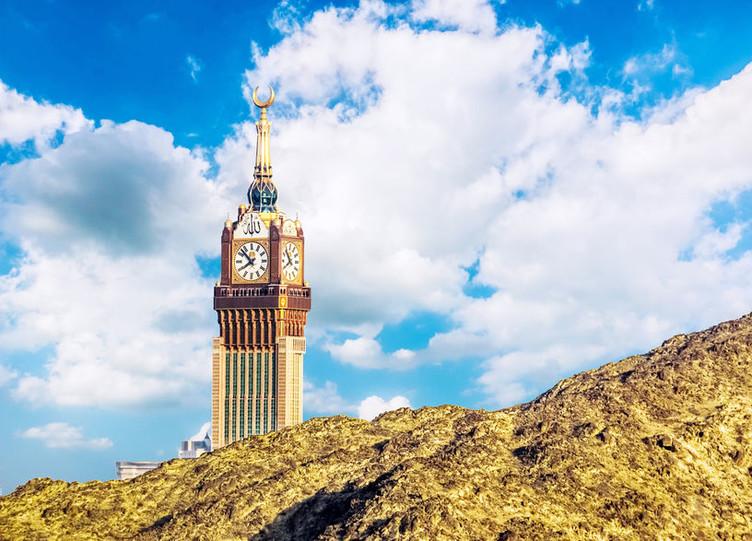 Der Makkah-Tower beherbergt die größte Turmuhr der Welt - Made in Black Forest.