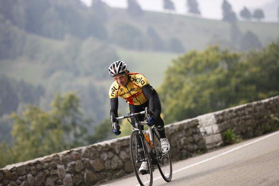 Rennrad Bergab am Belchen