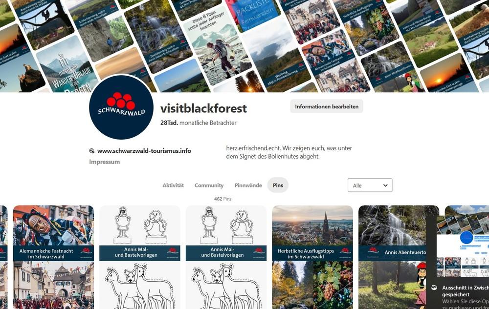 visitblackforest Pinterest-Screenshot