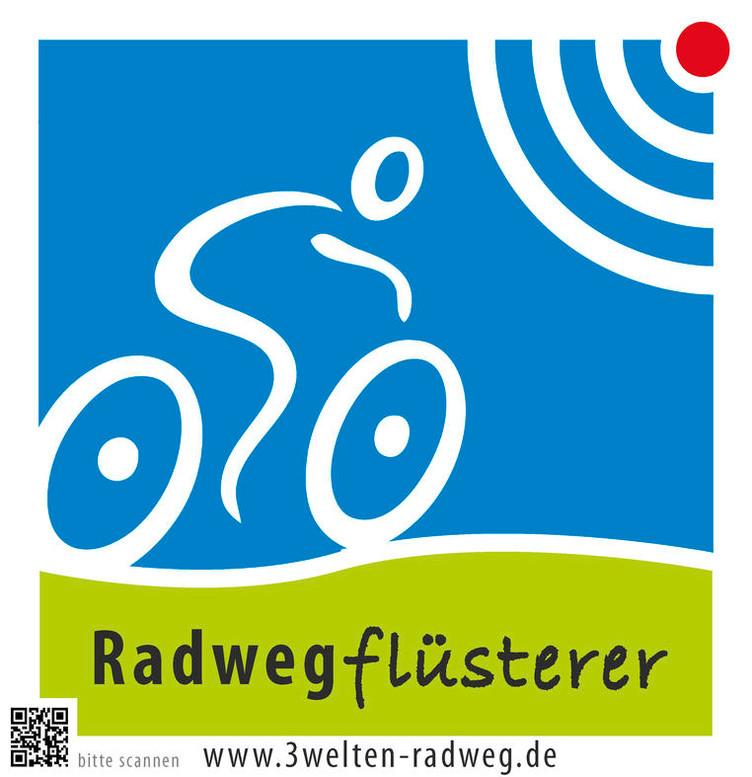 illustrierter Radfahrer