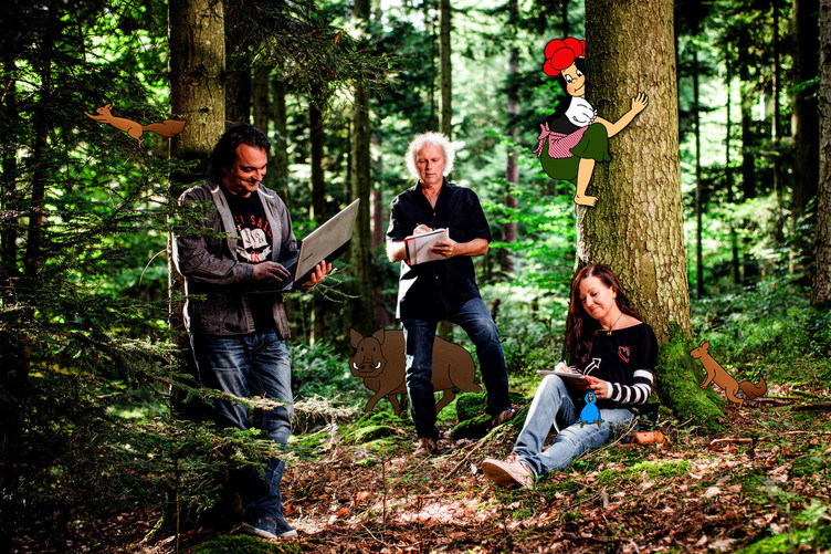 Das Team rund um die Anni: Andreas Schneider, Uwe Baumann, Katja Schneider.