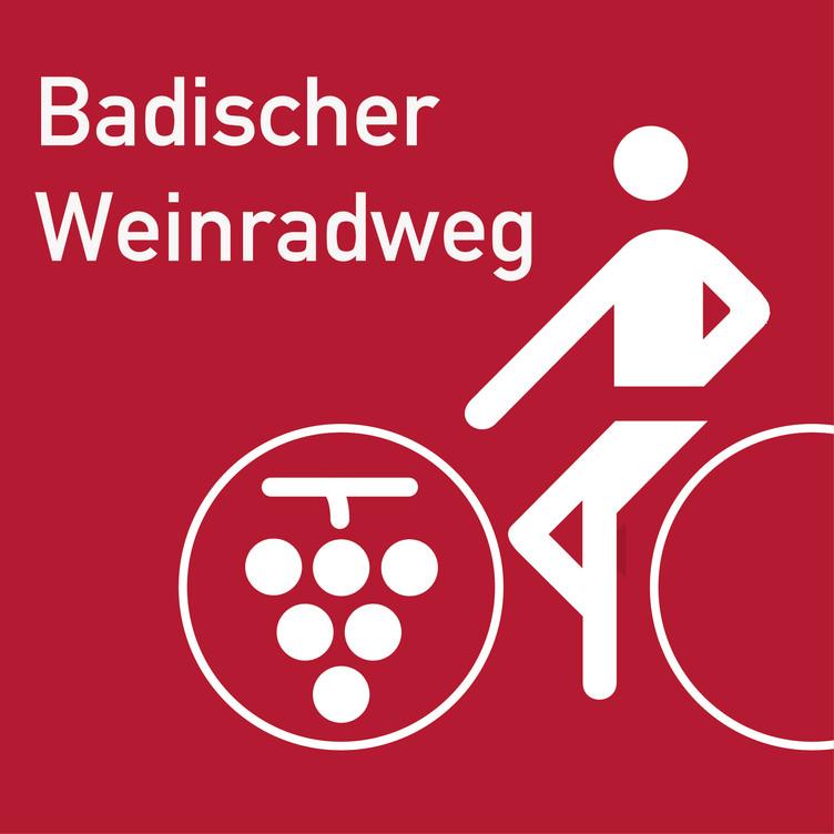 Folgen Sie diesem Wegeschild auf dem Badischen Weinradweg.