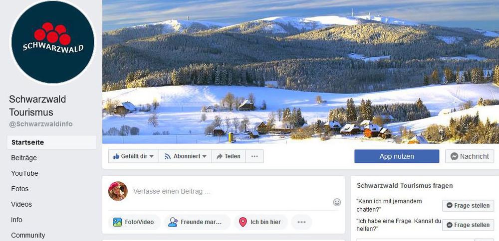 Facebook-Seite Schwarzwald Tourismus