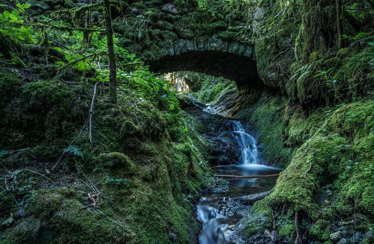 Romantische Brücke, Edelfrauengrab-Wasserfälle Ottenhöfen