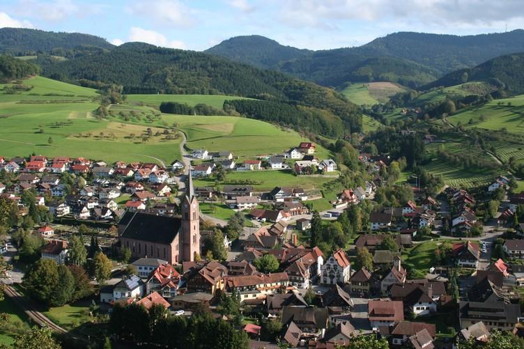 Blick vom Pavillon auf Oberharmersbach