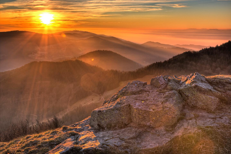 Sonnenuntergang beim Belchen