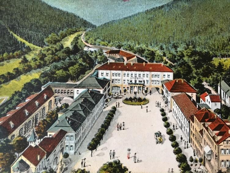 Bad Teinach früher (alte Postkarte)