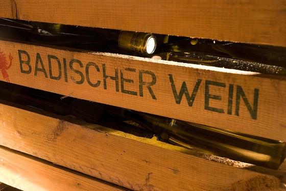 Badischer Wein Holzkiste