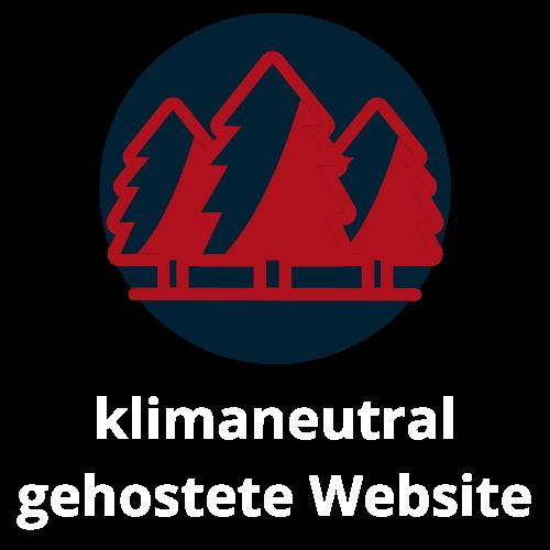 klimaneutral gehostete Website